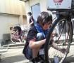 観光用の自転車修理